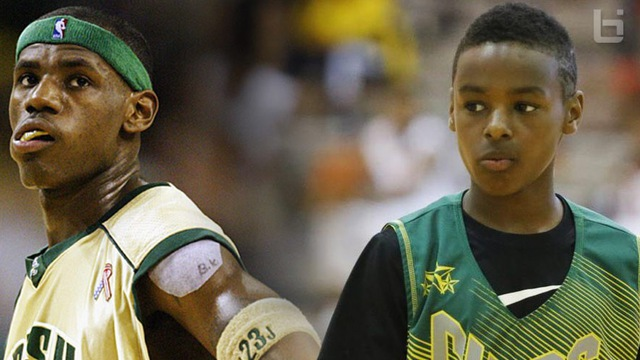 LeBron James hưng phấn nhắc lại viễn cảnh chơi bóng cùng con trai tại NBA